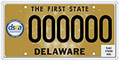 Delaware State Education Association Centennial License Plate