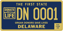 Delaware Organ Donor tag