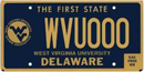West Virgina University tag